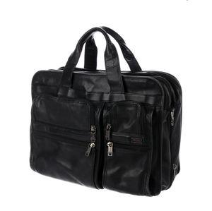 Tumi Leather Alpha Expandable Laptop Briefcase Bag